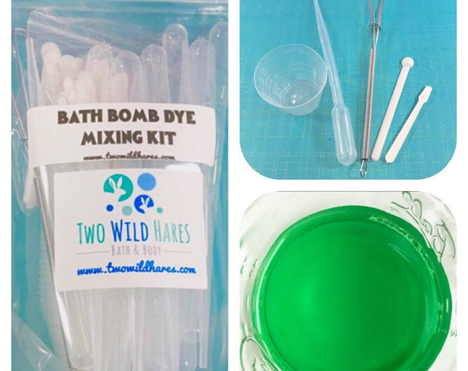 DYE MIXING KIT, 5 Different Tools, 81 pieces, Rinse & Reuse, Two Wild Hares