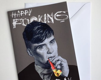 Peaky Blinders A5 Vintage Birthday Illustrative card - Tommy Shelby / Cillian Murphy