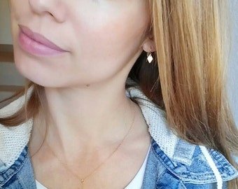 Gold lariat y neck charm necklaces. Dainty. Pearl. heart. star. Gift. Delicate. Wire wrap. Gold heart. Minimalist. Valentine.