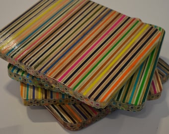 Coloured Pencil Trivet