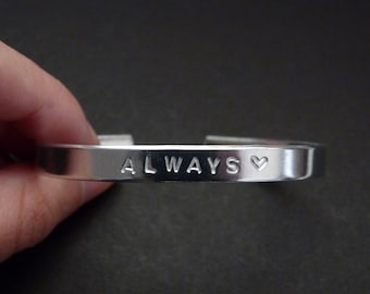 Always bracelet, promise jewelry, Valentines day gift for him or her