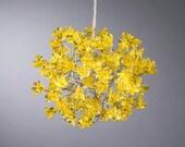 Yellow flowers Hanging Lights for hall, bathroom, bedside lamp. light fixture. ceiling light. children lights - unique pendant lights.