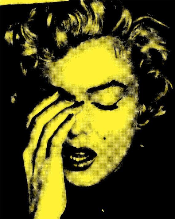Marilyn Monroe pop art print poster original pop art cool