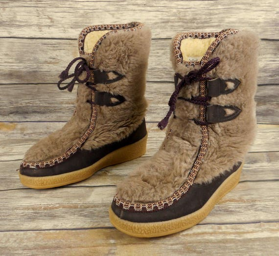 ... Boots Faux Size Snowland Vintage 7 Womens Winter Ladies Sherpa Shoes  Fur Snow xEOqOwYg ... cde07871b