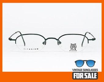 Rare vintage eyeglasses JPG by GAULTIER 57-0018 TITANIUM-P original made in Japan 1990