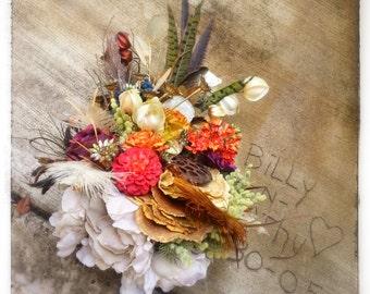Custom Order for Fall Woodland Bridal Bouquet