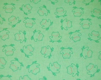Green Frog Fabric 1 yard Boutique