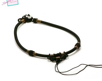 1 beautiful support necklace, black