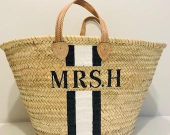 The 'Mrs' Straw Basket - Ibiza