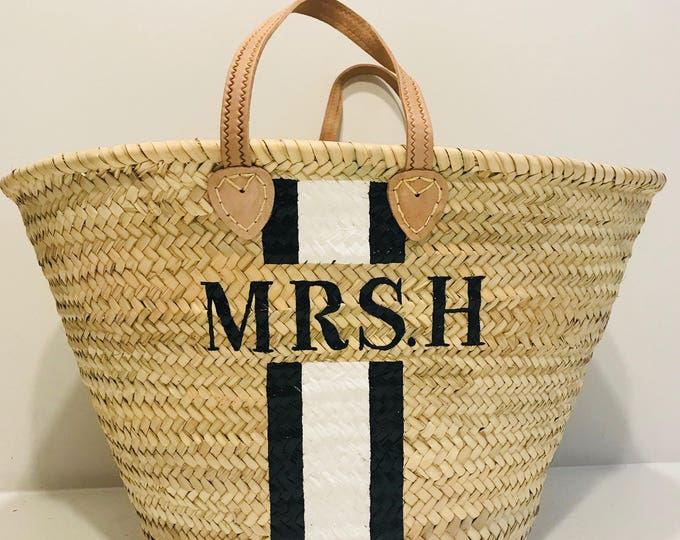 Featured listing image: The 'Mrs' Straw Basket - Ibiza