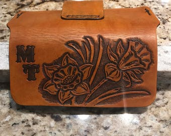 Custom Hand Tooled Leather Electronic Cases