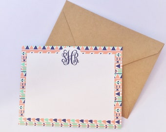 Aztec Monogram Notecards