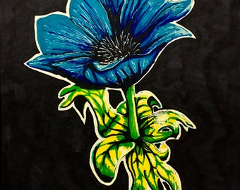 Flower painting, original, hand painted