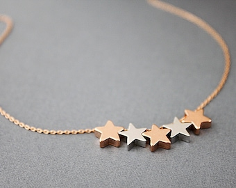 Multiple Star Charm Necklace