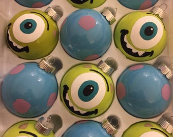 Set of 12 Monsters Inc. Inspired Holiday Ornaments