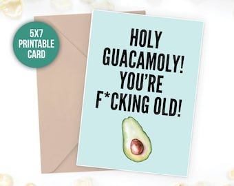 holy guacamoly funny birthday funny card card for boyfriend dirty birthday card boyfriend birthday happy birthday birthday for him birthday