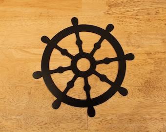 Ship wheel nautical home decor