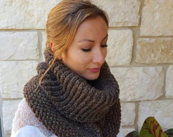 Free shipping brown neck cowl