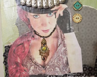 Mixed Media Steampunk Collage