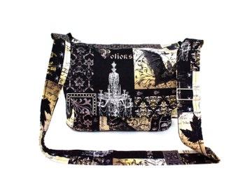Edgar Allen Poe Inspired  Messenger Bag