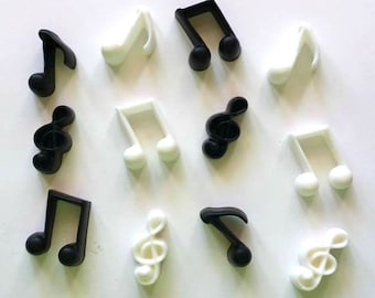 Music Note Soaps - Musical - 12 Pieces - Notes - Music - Birthday - Free U.S. Shipping - Music Teacher, Music Student, Piano, Guitar