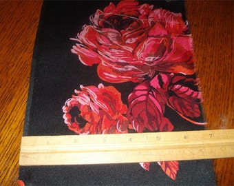 100% Silk Charmeuse Prints - Midnight Rose