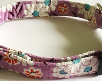 Purple Collar with Flowers for Girl Dog or Cat