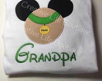 Adult Disney - Pluto  Shirt - Personalized Disney, Disney family shirt , Pluto Mickey shirt, Mens Disney shirt