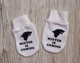Game of Thrones Inspired 'Winter is Coming' Baby Scratch Mitts