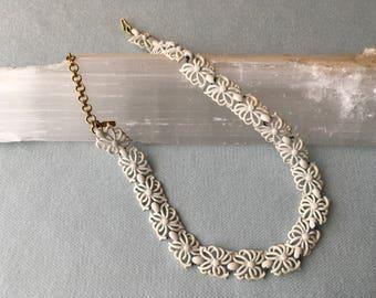 Vintage Metal Milk Choker Necklace by Monet
