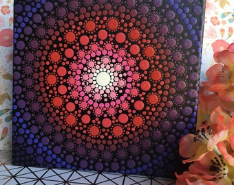 purple and pink mandala art