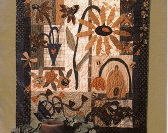 """MA-MA'S GARDEN 45"""" X 38"""" Pieced & Appliqued Quilt Pattern"""