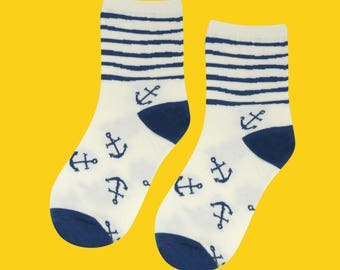 FREE SHIPPING Anchor sock for women