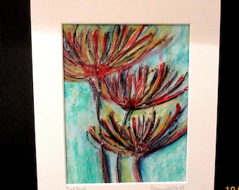 Seed Heads.....An original mixed media textured painting by Suzanne Patterson