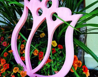"12"" painted Wood flower cutouts"