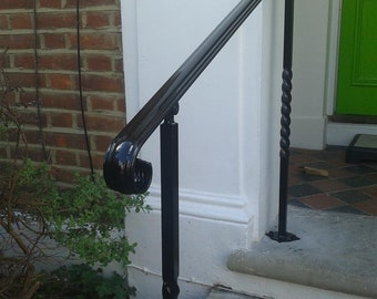 Adjustable angle wrought Iron style handrail With posts for outside, Mobility