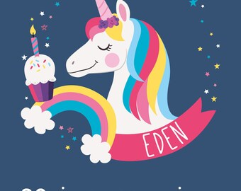 "Share Magic Unicorn theme birthday or christening ""Eden"""
