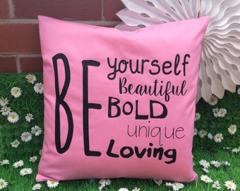 Be Yourself Motivational Quote Cushion Cover