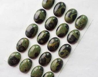 KAMBALA Jasper: 1 25 * 18 mm natural stone cabochon