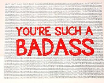 Cool cards // Badass cards / You're Such A Badass Card // Thinking of you // Badass // Love you // Adore // Love // Friendship // Bestfriend