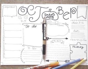october bullet journal monthly journaling printable planner addict organize life diy list agenda organizer notebook download lasoffittadiste