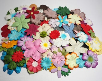 Mulberry Paper Flowers - 100 Assorted Handmade Petals