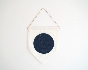 ORION CONSTELLATION - Wall Banner, embroidered, customizable, wall hanging, wall decor. Size M.