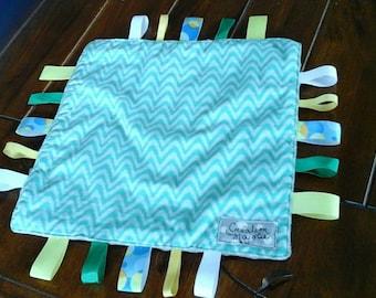Ribbon blanket. Blanket baby gift. Baby gift. Ready to ship. Sensory blanket. Birthday gift. Ready to ship gift. Blanket