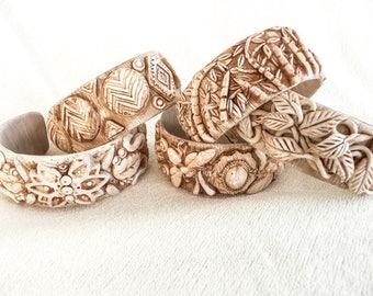 Faux Bone Cuff Bracelet Tutorial