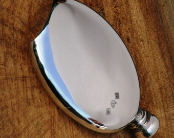 English Pewter Clam 3oz  Hip Flask Personalised Gift FREE ENGRAVING