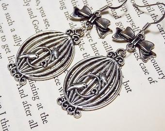 Silver Birdcage Earrings