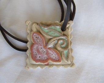 statement pendant,Handmade ceramic jewelry Necklace,ceramic pendant, statement Necklace, Handmade jewelry, Colorful necklace,