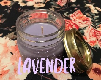 Lavender Homemade Soy Wax Candle