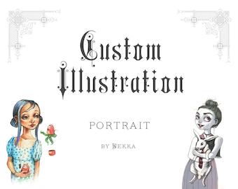 Custom Illustration • Portrait • A5 Print